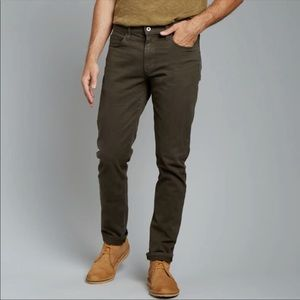 Flint and Tinder Straight Fit Brown Jeans Size 32 Mens Made In America